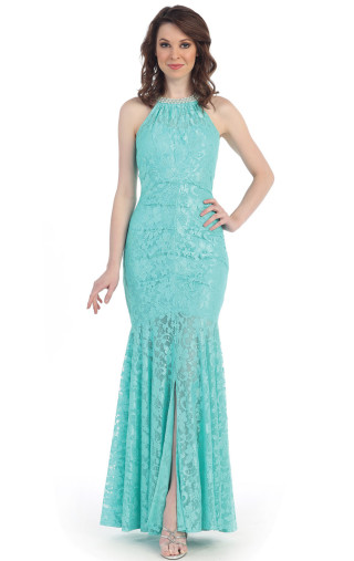 Lovely Lace Mermaid Evening Dress