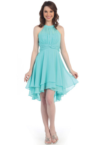 Tiered Chiffon Cocktail Dress