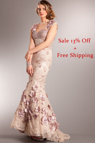 Get this very unique vintage lace mermaid evening gown for you prom. 13% Off + Free Priority Shipping. SHOP NOW!