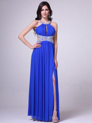 We call this the pretty-n-royal prom dress!