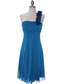 One shoulder style homecoming dress!