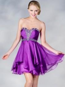 Strapless Beaded Sweetheart Homecoming Dress!