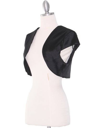 0002 Taffeta Bolero - Black, Alt View Medium