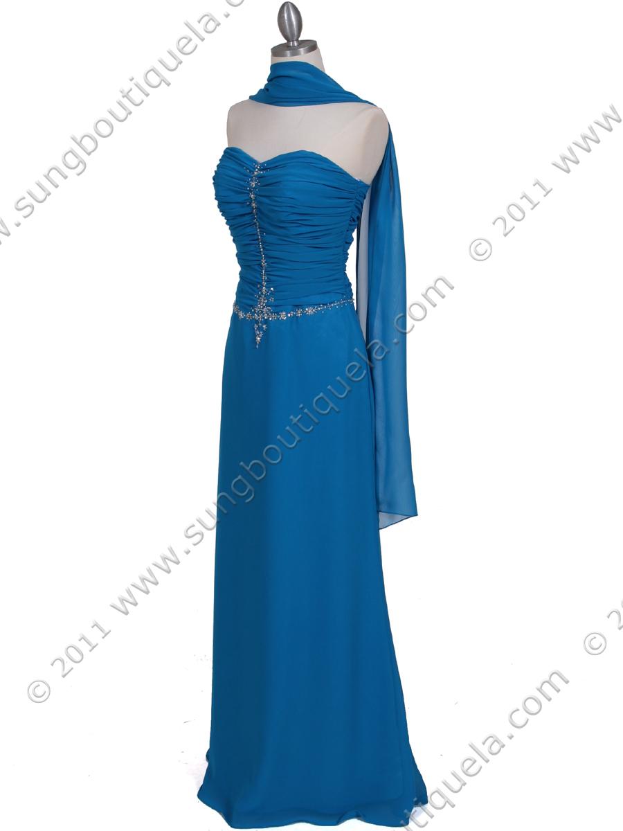 Amazon.com: 50's Strapless Satin Formal Bridesmaid Prom Dress