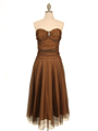012  Strapless Brown Evening Dress - Front Image