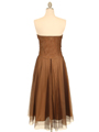 Strapless Brown Evening Dress - Back Image