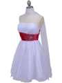 077a White Fuschia Strapless Cocktail Dress - White Fuschia, Alt View Thumbnail