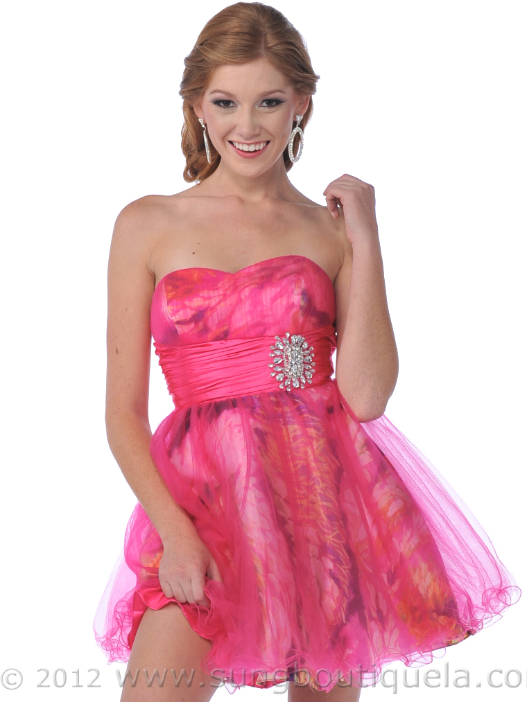Strapless Short Prom Dress | Sung Boutique L.A.