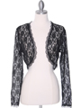 1003 Black Lace Long Sleeve Bolero