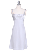 1021 Silver Satin Top Cocktail Dress, Silver
