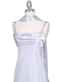 1021 Silver Satin Top Cocktail Dress - Silver, Alt View Thumbnail