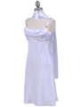 1021 White Satin Top Cocktail Dress - White, Alt View Thumbnail