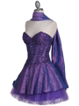 Purple Beaded Party Dress - Alt Image