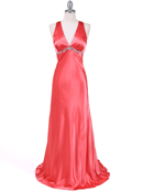 1042 Magenta Charmeuse Evening Dress, Magenta