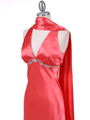 1042 Magenta Charmeuse Evening Dress - Magenta, Alt View Thumbnail