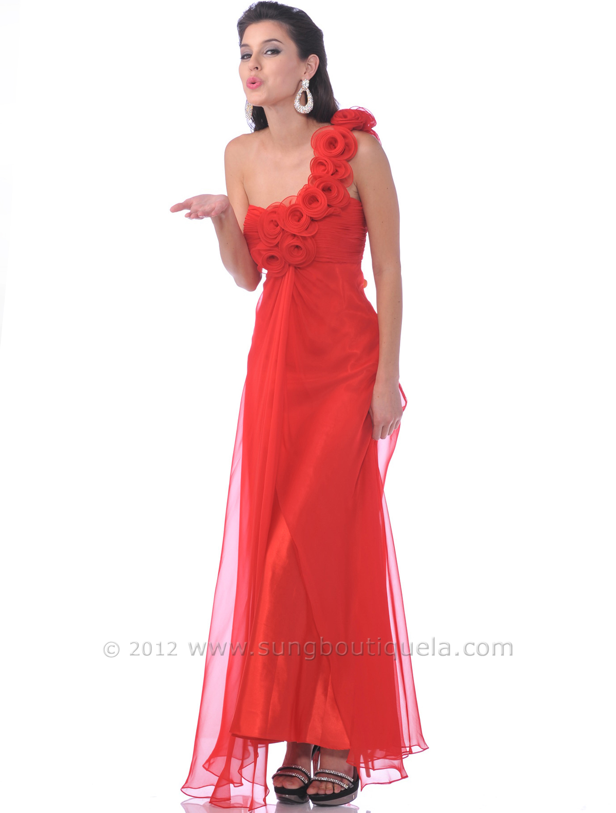 Phenomenal One Shoulder Chiffon Evening Dress Sung Boutique L A Hairstyles For Men Maxibearus