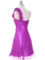 Purple Chiffon Cocktail Dress - Back Image