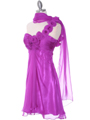 Purple Chiffon Cocktail Dress - Alt Image