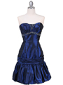 1076 Royal Blue Beaded Bubble Dress