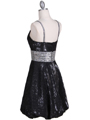 1093 Black Sequin Cocktail Dress - Black, Back View Thumbnail