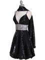 1093 Black Sequin Cocktail Dress - Black, Alt View Thumbnail