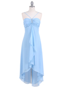 Baby Blue Evening Dress with Rhine Stone Pin
