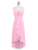 Pink Evening Dress with Rhine Stone Pin