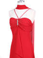 1111 Red Evening Dress with Rhine Stone Pin - Red, Alt View Thumbnail