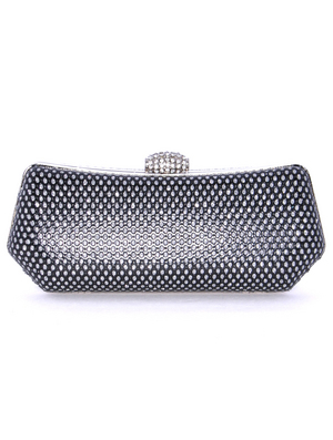 1111TS Black Sparkling Evening Clutch, Black