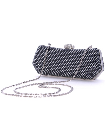 1111TS Black Sparkling Evening Clutch - Black, Alt View Medium