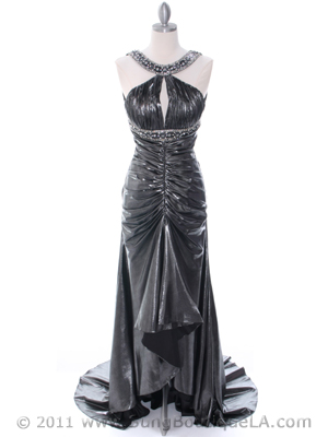 1117 Charcoal Evening Dress, Charcoal