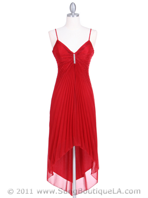 1134 Red Cocktail Dress, Red