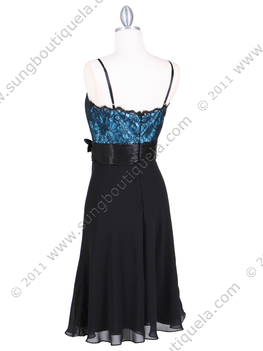 Black Turquoise Laced Cocktail Dress Sung Boutique L A