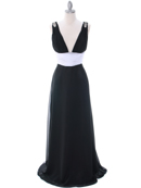 Black White Evening Dress