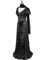 1227 Black Lace Evening Dress - Black, Alt View Thumbnail