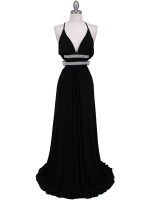 1249 Black Evening Gown, Black