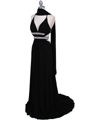 1249 Black Evening Gown - Black, Alt View Thumbnail