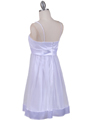 White Giltter Cocktail Dress - Back Image