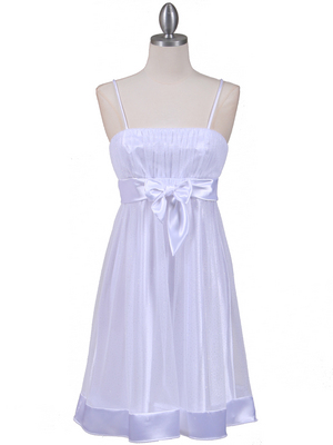 White Giltter Cocktail Dress - Front Image