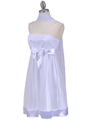 1302 White Giltter Cocktail Dress - White, Alt View Thumbnail
