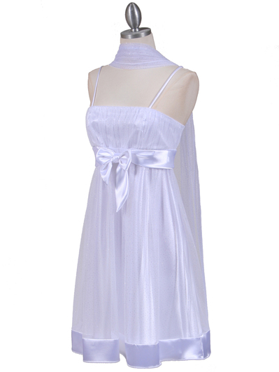 1302 White Giltter Cocktail Dress - White, Alt View Medium