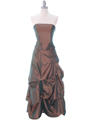 1304 Bronze Evening Gown - Bronze, Front View Thumbnail
