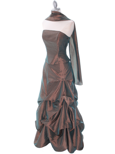 1304 Bronze Evening Gown - Bronze, Alt View Medium