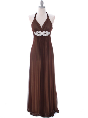 Brown/Gold Evening Dress - Front Image