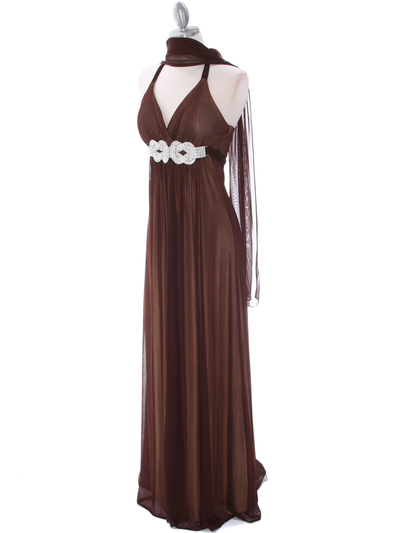 1333 Brown/Gold Evening Dress - Brown Gold, Alt View Medium