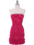 Fuschia Taffeta Cocktail Dress