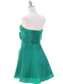 Green Taffeta Homecoming Dress - Back Image