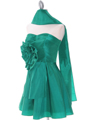 Green Taffeta Homecoming Dress - Alt Image
