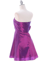 1337 Purple Taffeta Homecoming Dress - Purple, Back View Thumbnail