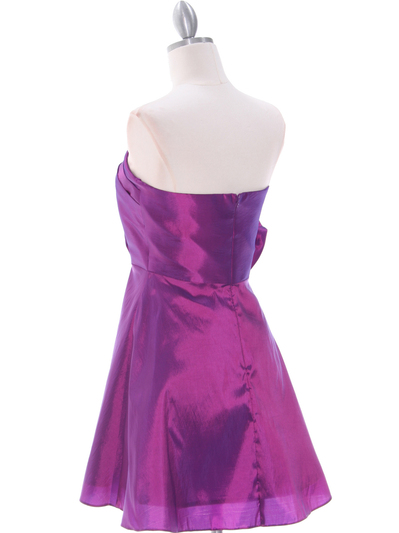 1337 Purple Taffeta Homecoming Dress - Purple, Back View Medium